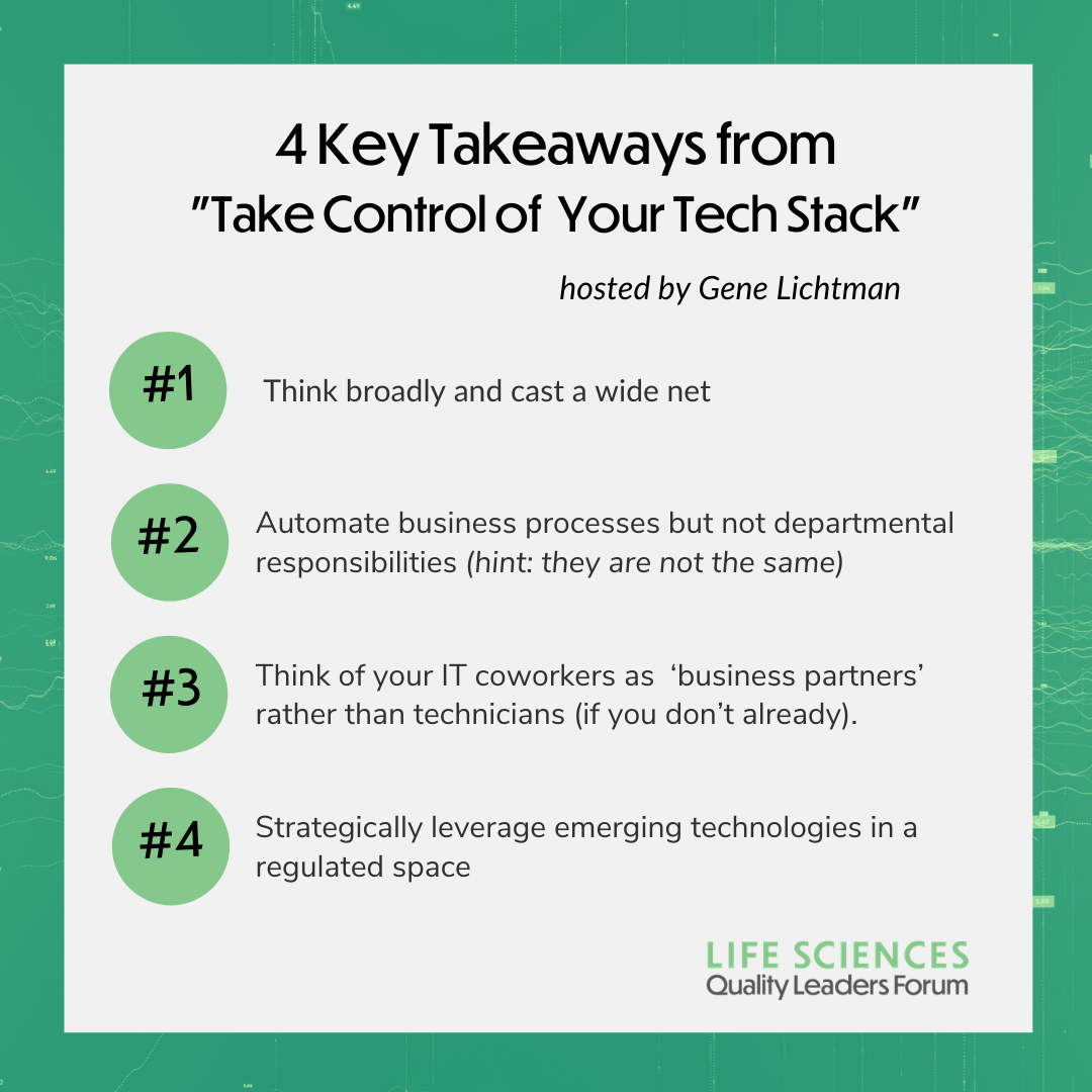 4 Key Takeaways from  _Take Control of  Your Tech Stack_