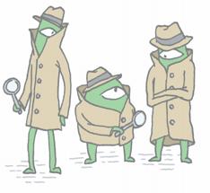 Zenners in detective-wear preparing for an audit practice run.