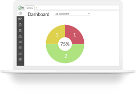 Dashboard of ZenQMS showing the cloud-based ease of quality management.